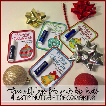 Free Holiday Gift Tag for Big Kids #LastMinuteGiftsForBigKids