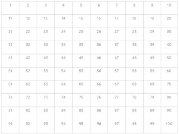 Free Holiday Hundred Chart Puzzle