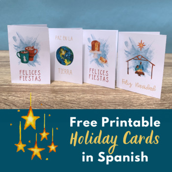Free Holiday and Christmas Cards in Spanish