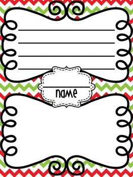 Free Holiday/Christmas Writing/Coloring Page!