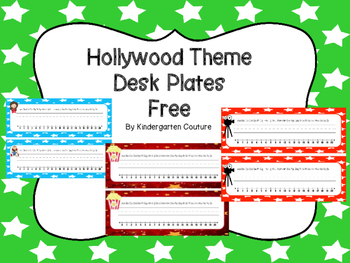 Free Hollywood Desk Plates