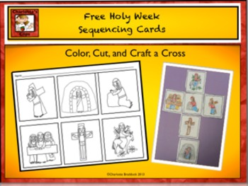 Free Holy Week - Easter Sequencing Cards - Craft by Charlo