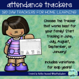 Free Homeschool Attendance Trackers tracking grid for 180