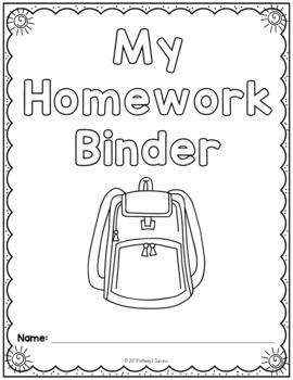 Free Homework Binder