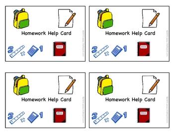 Free: Homework Help Cards