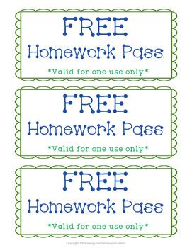 Printable homework passes free buy popular dissertation conclusion online
