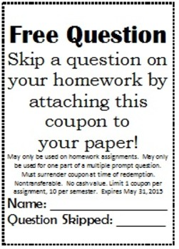 Free Homework Question Coupon