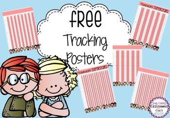 Free Homework/Testing Tracking Posters