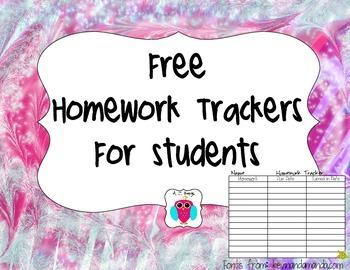 Free Homework Trackers