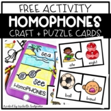 Free Homophones Craftivity and Activity Puzzle Cards