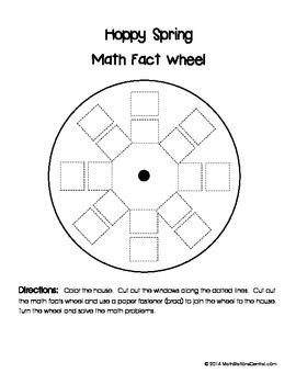 Free Hoppy Spring Math Fact Wheel