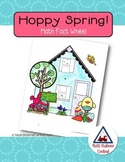 Free Hoppy Spring Math Fact Wheel