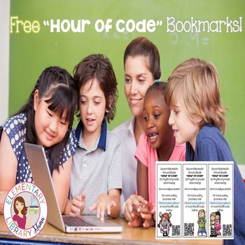 """FREE """"Hour of Code"""" Bookmarks for your Students!"""
