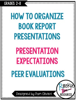 Free!  How to Present Book Reports!