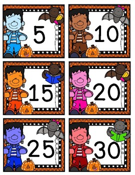 Free Halloween Skip Counting by 5s and 10s