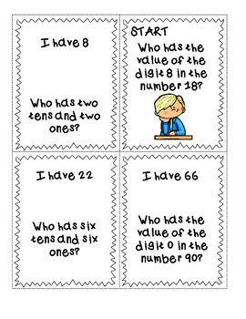 1st Grade Place Value I Have Who Has
