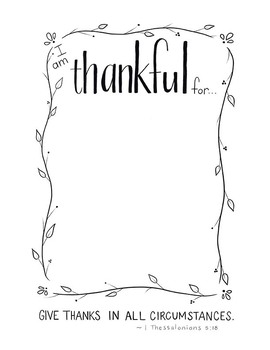 """Free """"I am thankful for..."""" Printable"""