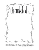 "Free ""I am thankful for..."" Printable"