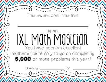 Free IXL Awards!