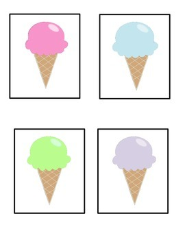 Free Ice Cream Cone Matching Game
