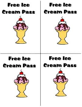 Free Ice Cream Passes