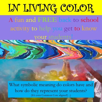 "Free!  ""In Living Color"" Get to Know You Activity"