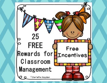 Free Incentive Posters- Classroom Management