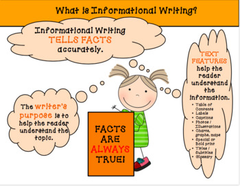 Free Informational Writing Reference Chart and Graphic Organizer