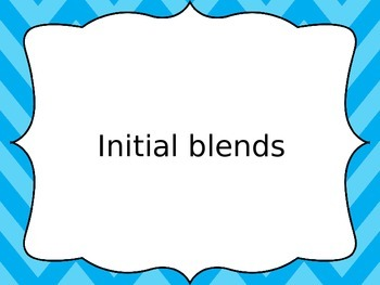 Free Initial Blends Powerpoint Warm Up - Electronic Flashcards - Lower Primary