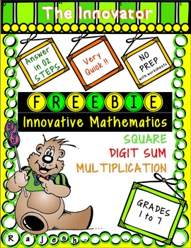 Free Innovative Mathematics Pack - Square, Digit Sum, Multiplication