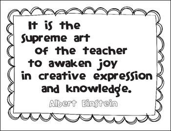 Free Inspirational Albert Einstein Quote