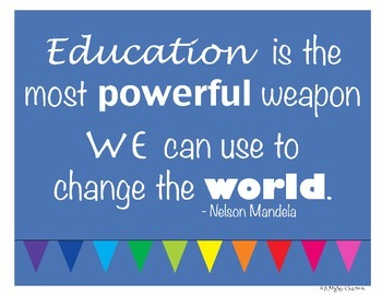 Free Inspirational Poster - Education is a Weapon