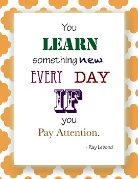 Free Inspirational Poster - Learn Something New Every Day