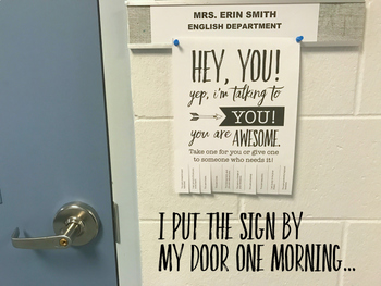 Free Inspirational Tear-Off Sign