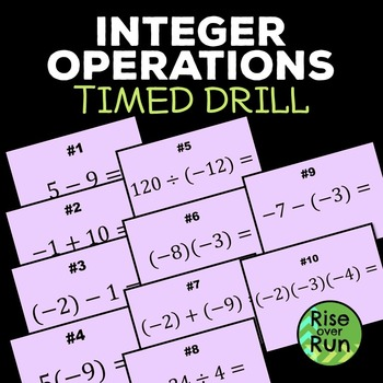 Free! Integer Operations Timed Drill Powerpoint