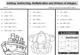 Free Integer Worksheet