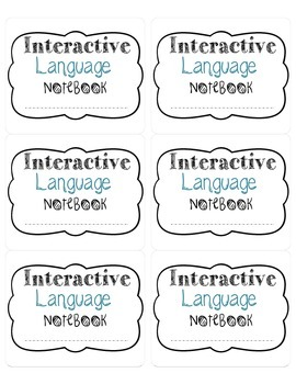 Free Interactive Language Notebook Label