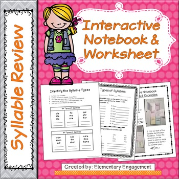 Interactive Notebook Materials & Worksheet for the Six Syllable Types