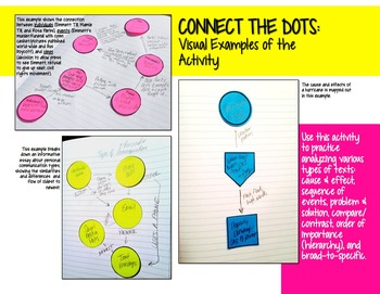 Free Interactive Reading Notebook Activity: Connect the Dots