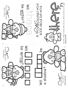 Free Interactive Sight Word Books: Groundhog's Day