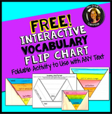 Free Interactive Vocabulary Flip Book Activity Common Core Aligned