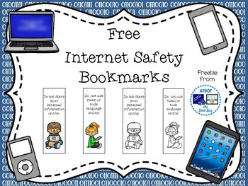 Free Internet Safety Bookmarks By Atbot The Book Bug Tpt