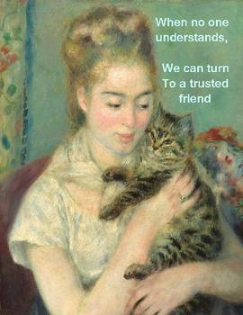 Free English Language Arts and Arts Poster – Renoir 1875