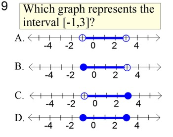 Free Interval Notation Reference Handout and Assignment for PDF