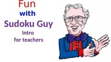 Free Introduction.  Fun with Sudoku Guy. Solving simple su
