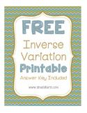 Free Inverse Variation Interactive Notebook Printable
