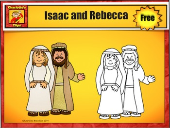 Free Isaac, Rebecca, Jacob, and Esau Clip Art Sample by Charlotte's Clips