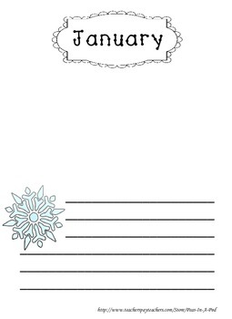 Free January Writing Page Standard Lines