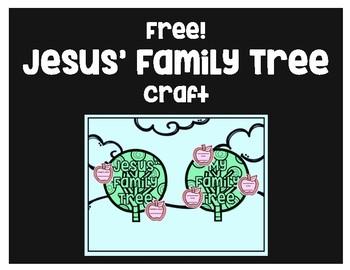 Free!  Jesus' Family Tree Craft
