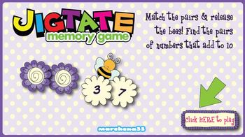 Free! Jigtate Little Learners' Memory Game - Numbers That